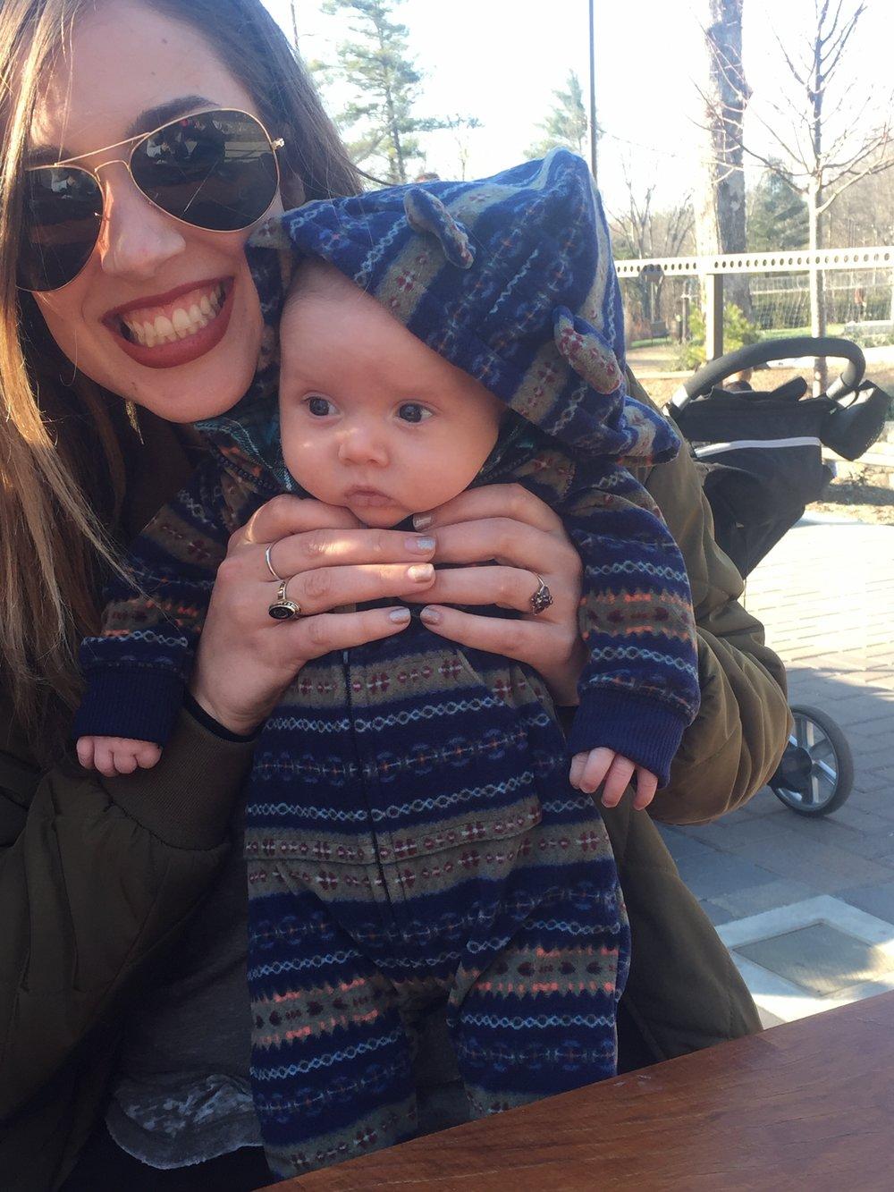 Aunt Evan and Brooks at Sierra Nevada for Aubrey's birthday 2017