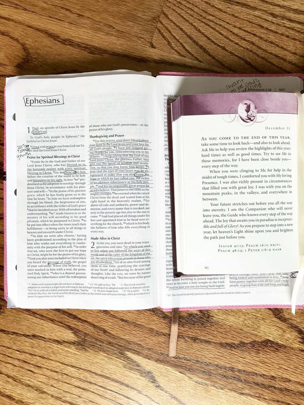 """I loooooove my """"Jesus Calling"""" or """"Jesus Lives"""" daily devotional as a starting point or quick read!"""