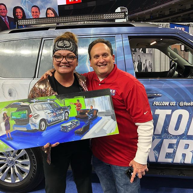 I think its time for me to deliver this live painting to @fox8nola @brucekatzfox8 @davidbernard_