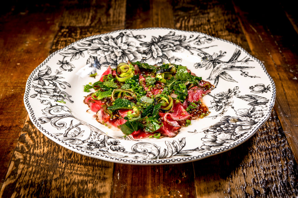 A stand out on Tiger Mama's menu, the short rib crudo manages to be both fresh and decadent.  Photograph by Mike Diskin