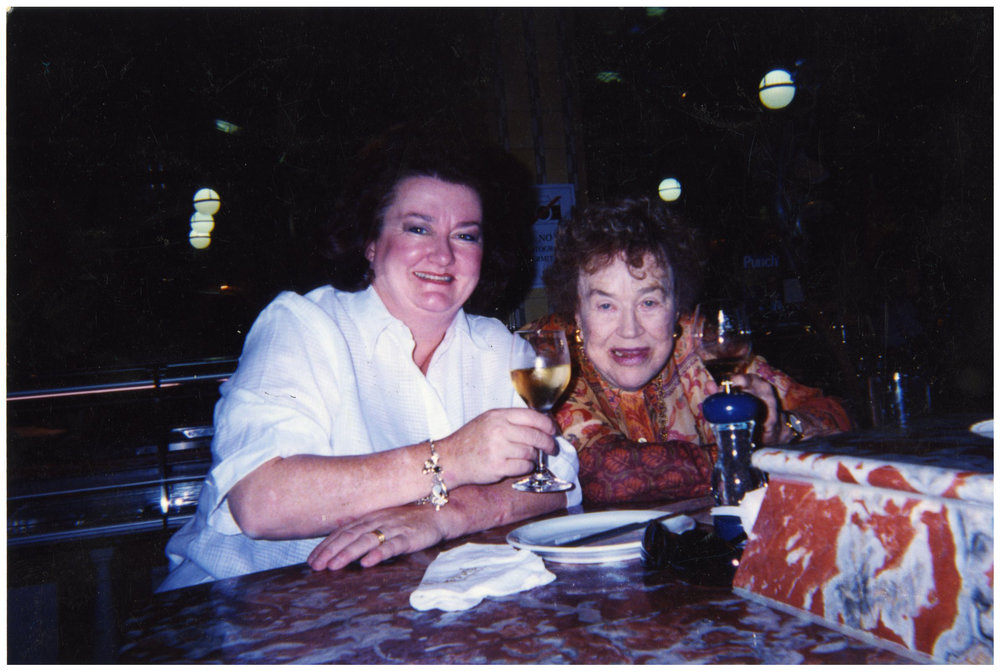 Lydia and Julia at Harrods drinking Sancerre