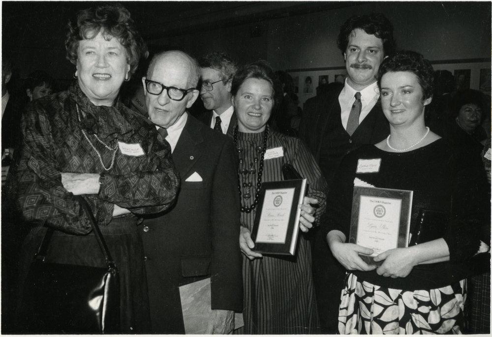 Julia Child and her husband Paul, Marian Morash, Jasper White, and Lydia    Photograph courtesy of Lydia Shire