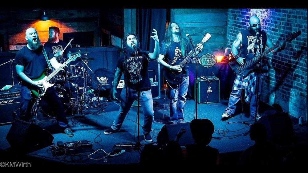 (Left to Right) Wyatt Williams-Guitar, Rogan Naples-Drums,  Ziggy Leija-Vocals, Jason Rochester-Guitar/Vocals, Carrek Coleman-Bass/Vocals -Photo by Kennie Wirth