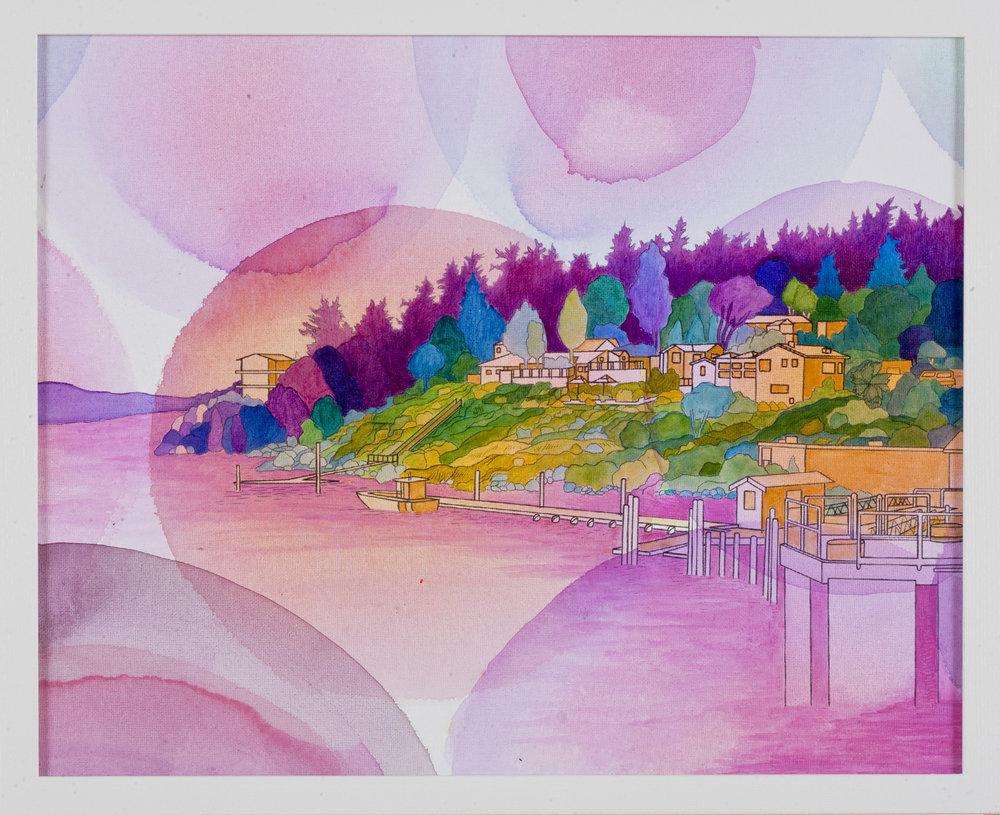 """Elizabeth Gahan, Wanderlust Orcas Island, 16""""x20"""", 2017, SOLD"""