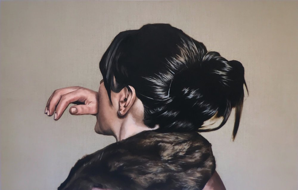 Mother!  2017  oil on raw linen  35X50