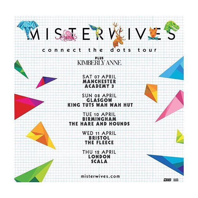 @MisterWives are UK 🇬🇧 bound! Tix go on sale this Friday •-• 🥁⚙️