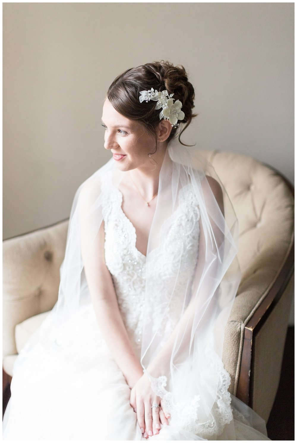 bride gets ready in the bridal suite at Vizcaya Sacramento wedding venue