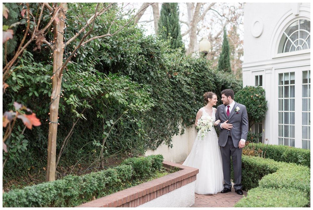 bride and groom wedding portraits in Northern California at Vizcaya wedding venue