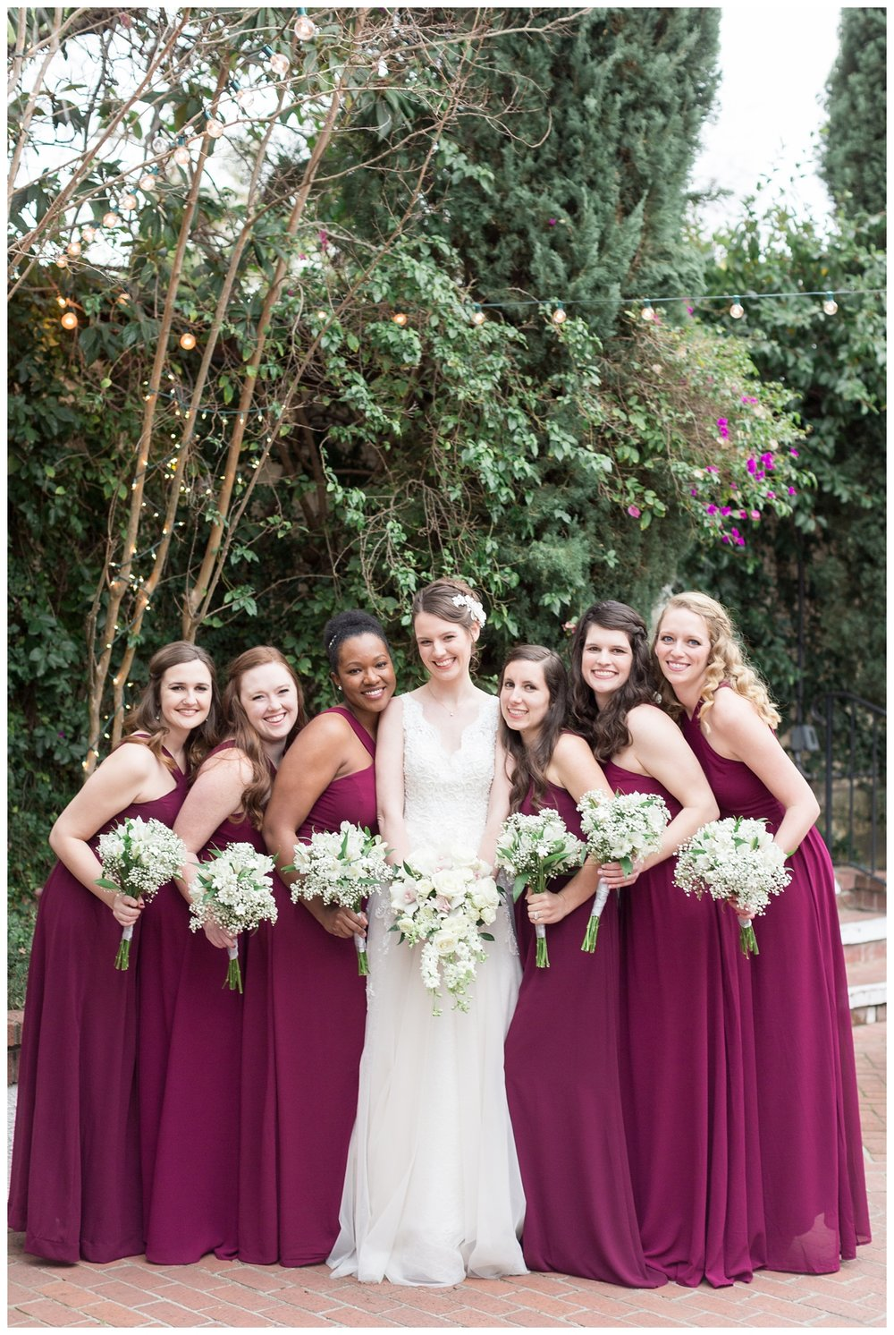 bridal party wedding portraits in Sacramento at Vizcaya Sacramento wedding venue