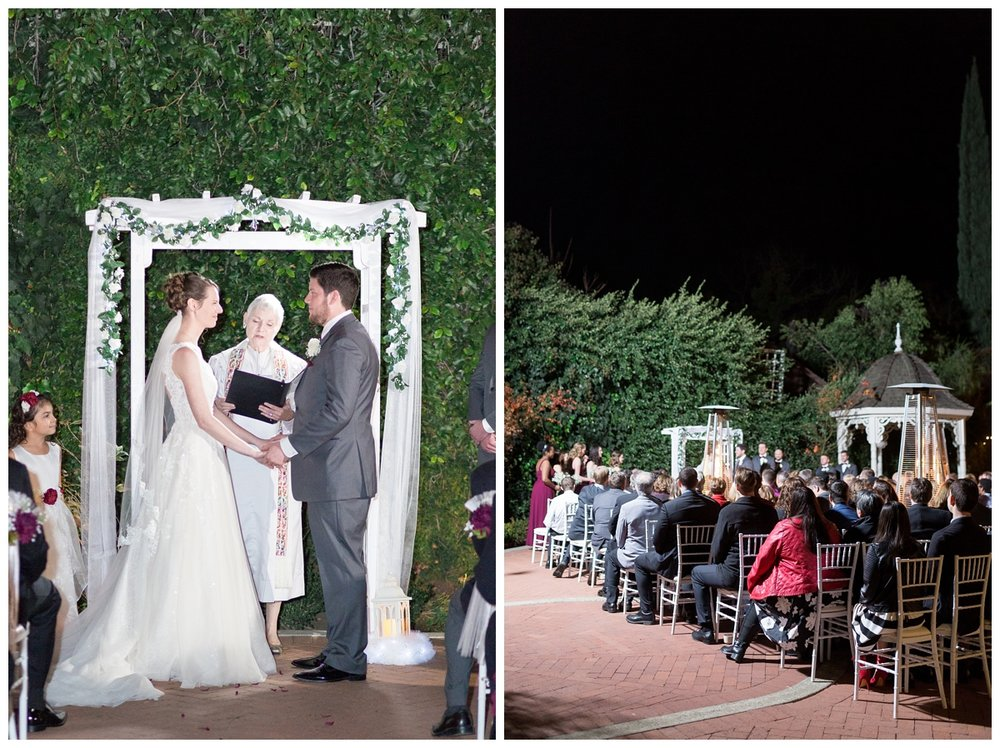 wedding ceremony details at Vizcaya Sacramento in Northern California