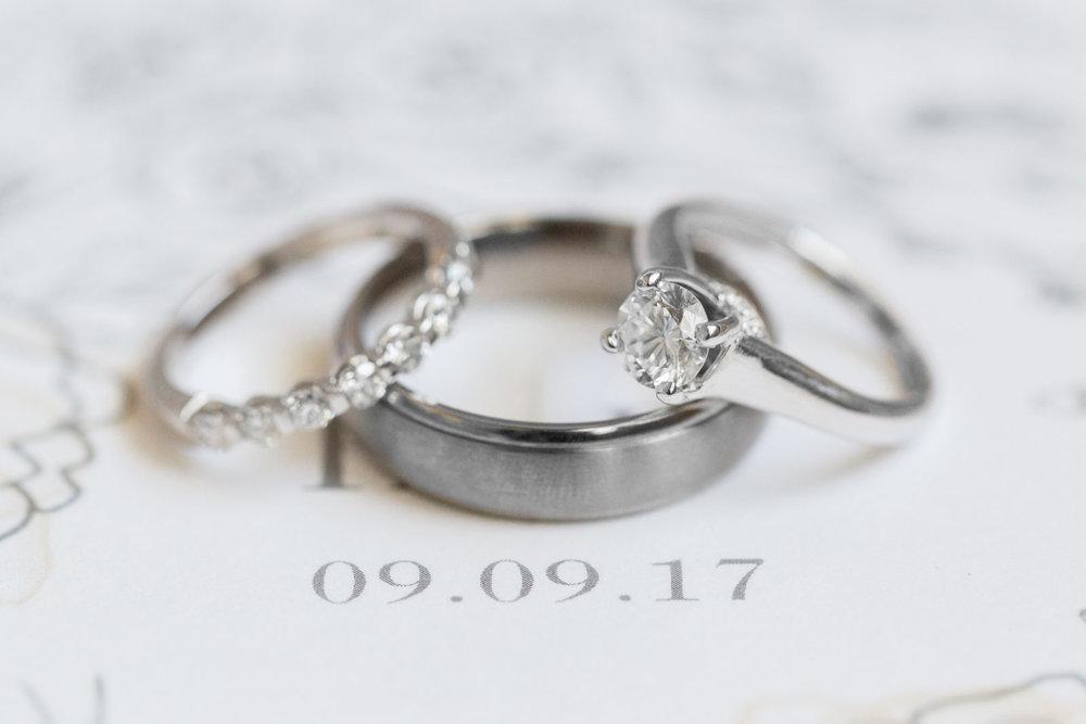 styled rings on september invitation