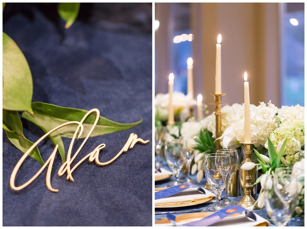 Velvet La Tavola linens on the head table
