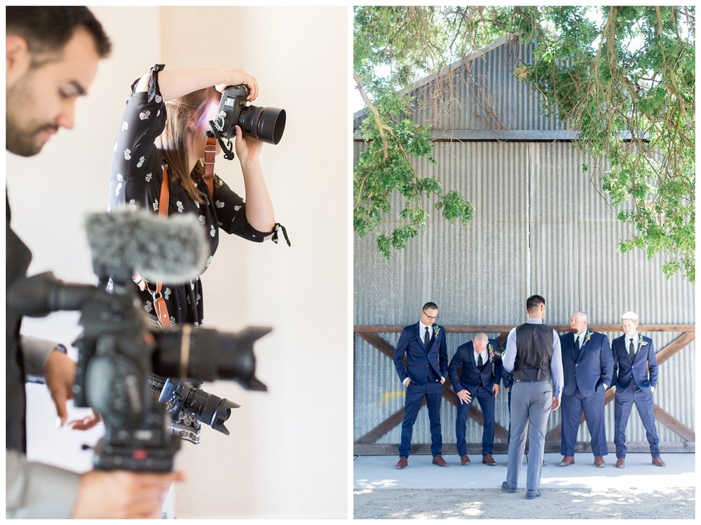 husband and wife Chico wedding photographers and videographers who shoot film