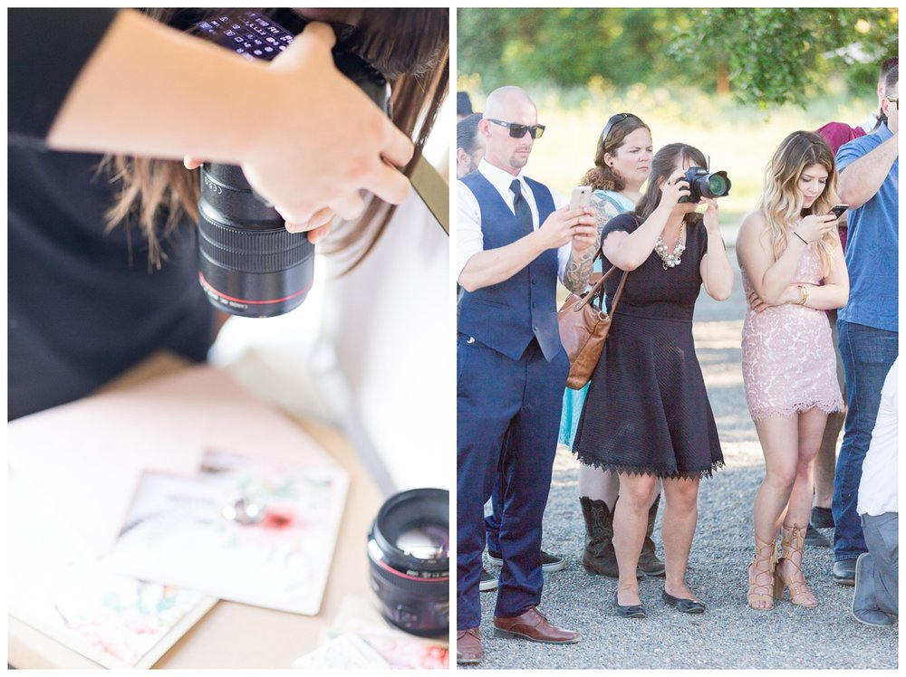 photographer taking photos of a brides wedding rings