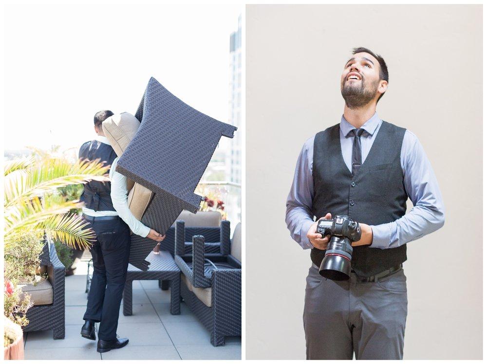 behind the scenes 2017 TréCreative wedding photographers