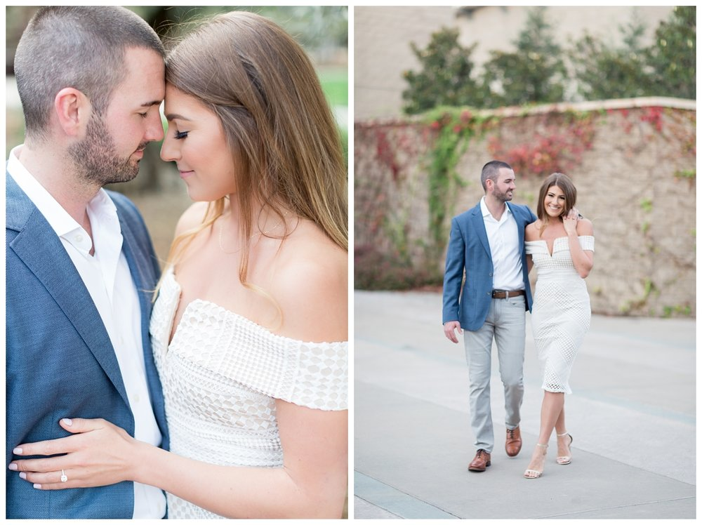 adorable couple gets all dressed up for engagement photos around Sonoma State University