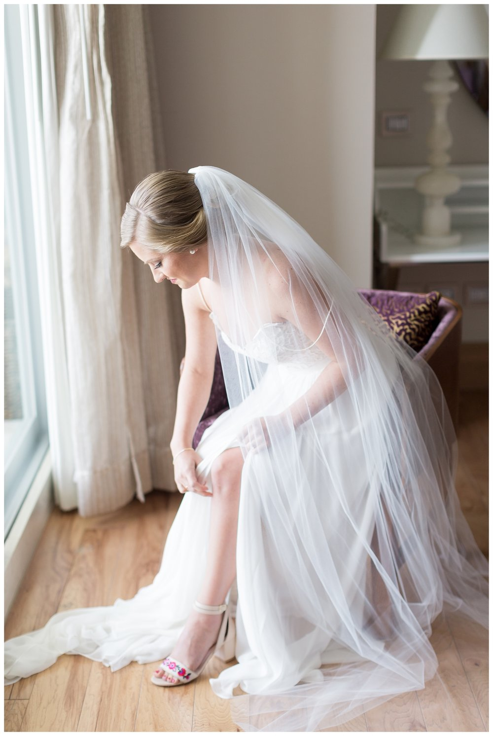 destination wedding photographer captures a bride in Mexico right before she heads out to see her husband at their first look