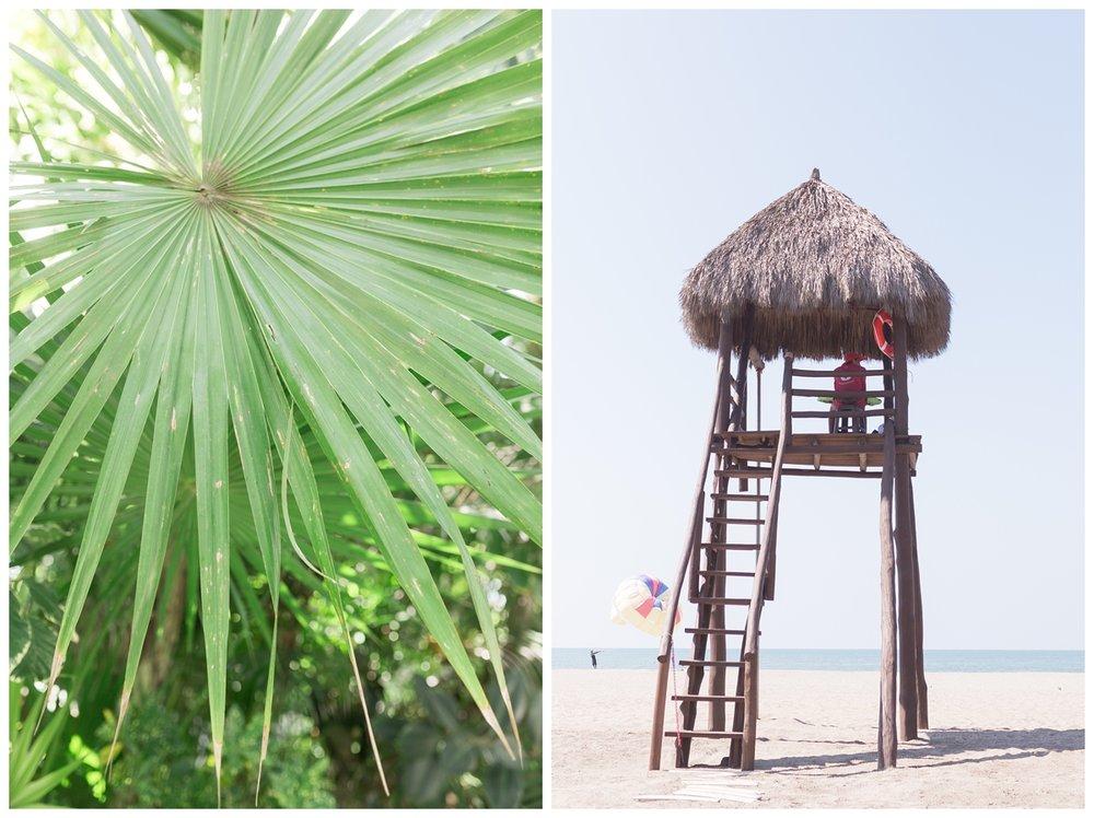 adorable couple takes photos all around a luxury resort in Puerto Vallarta