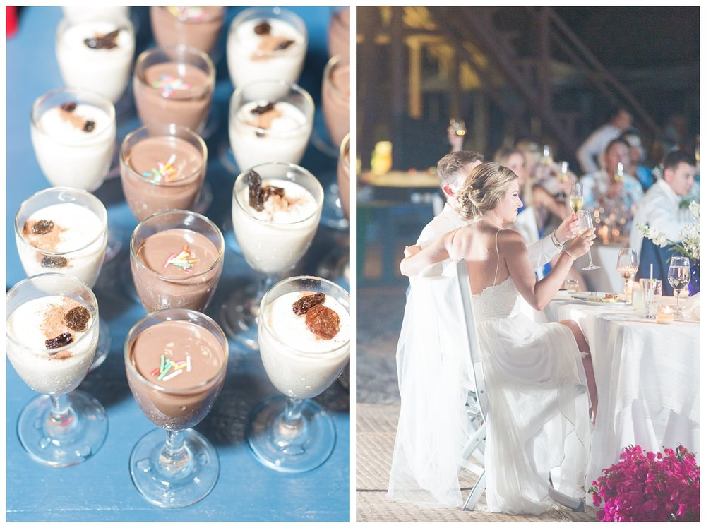 wedding reception on the beach in Mexico