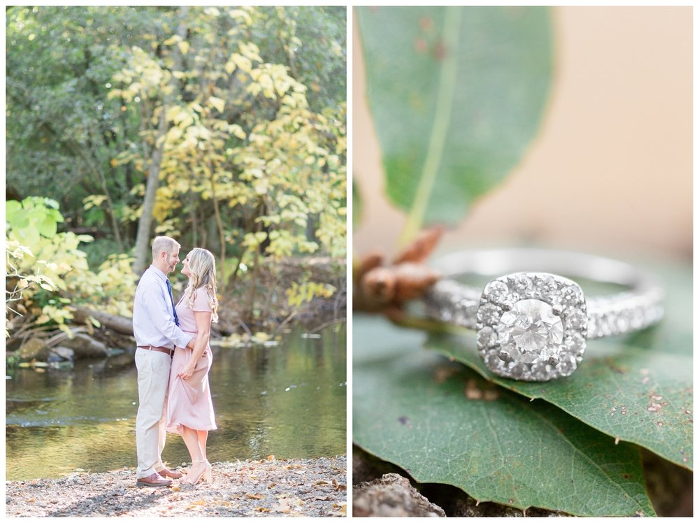 engaged couple takes photos in Northern California with their wedding photographer in the late Fall time of year