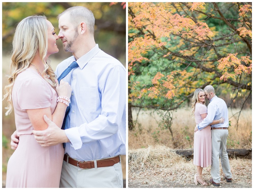 beautiful fall color engagement photography session in Chico California in Lower Bidwell Park
