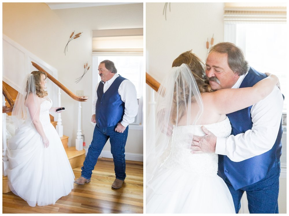 Northern California wedding photographer captures father daughter first look