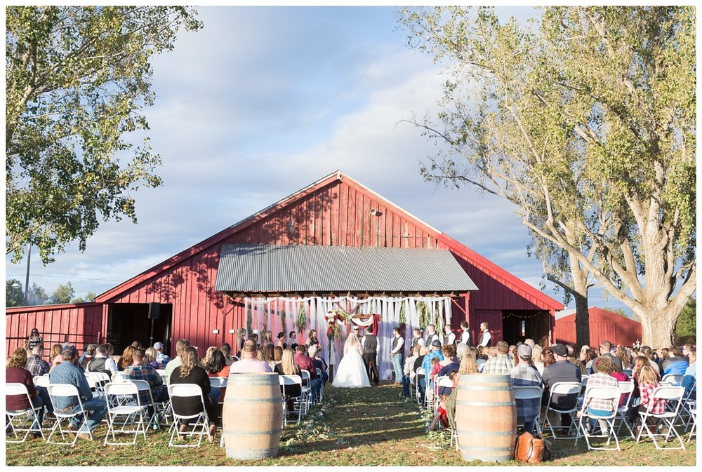 bride and groom exchange vows on their wedding day at a very elegant private estate in the country in Northern California