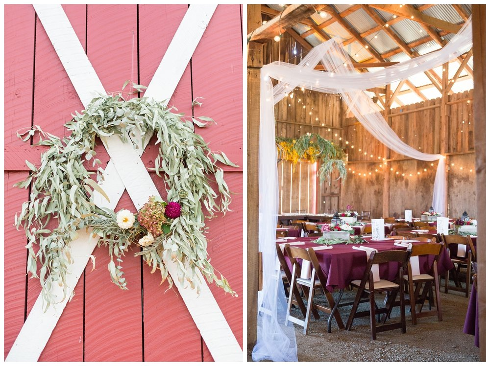 wedding reception in a country barn in Northern California