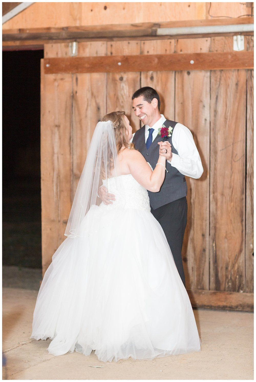 couples first dance together as bride and groom