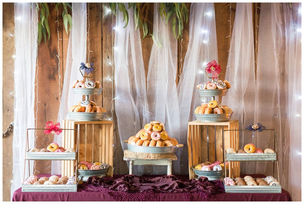 donut bar at a wedding