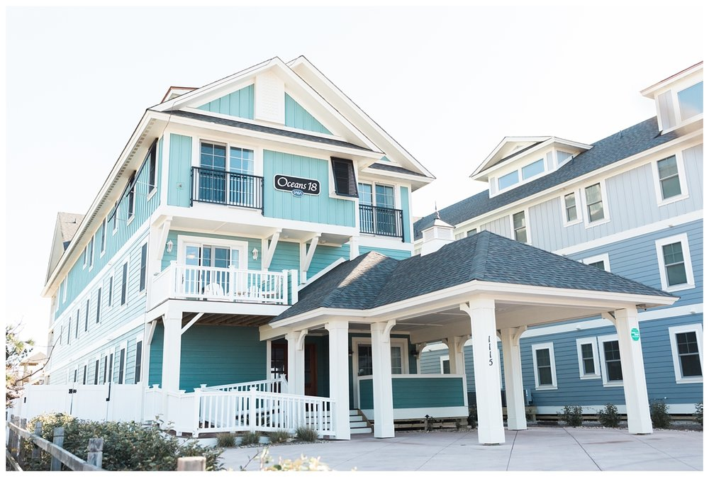 Outer Banks North Carolina blue resort beach house