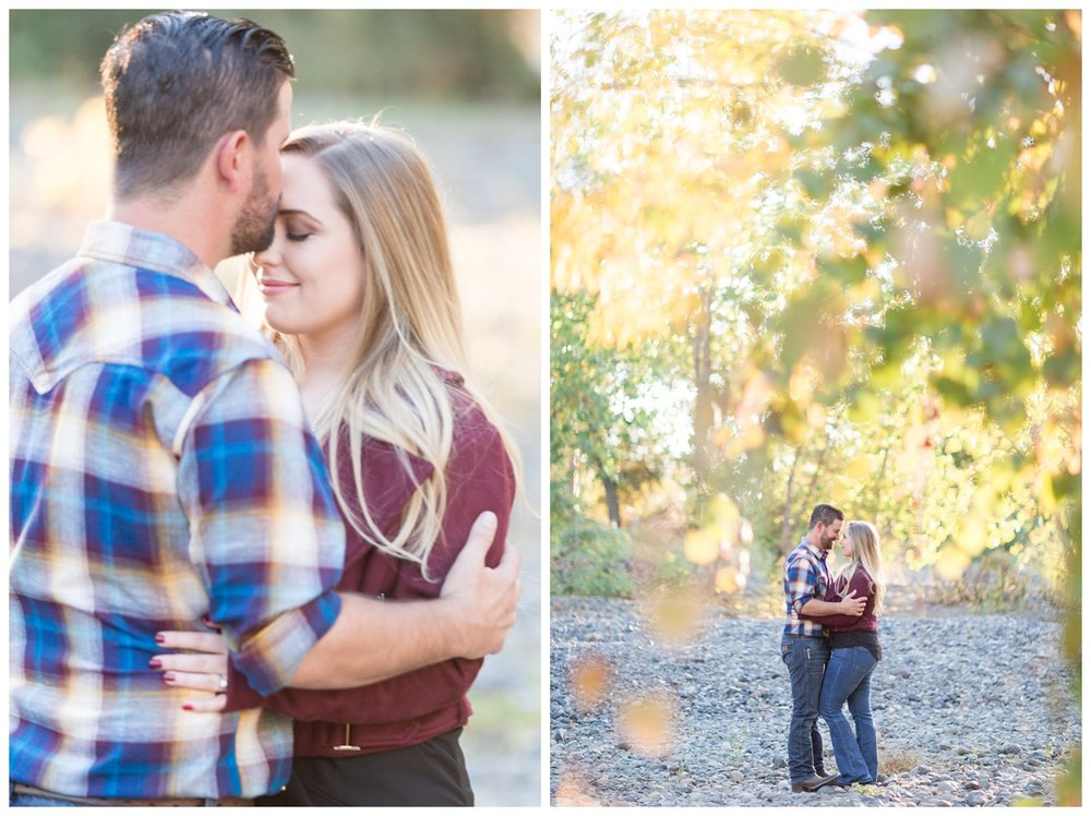 engagement photos taken at sunset in Upper Bidwell Park