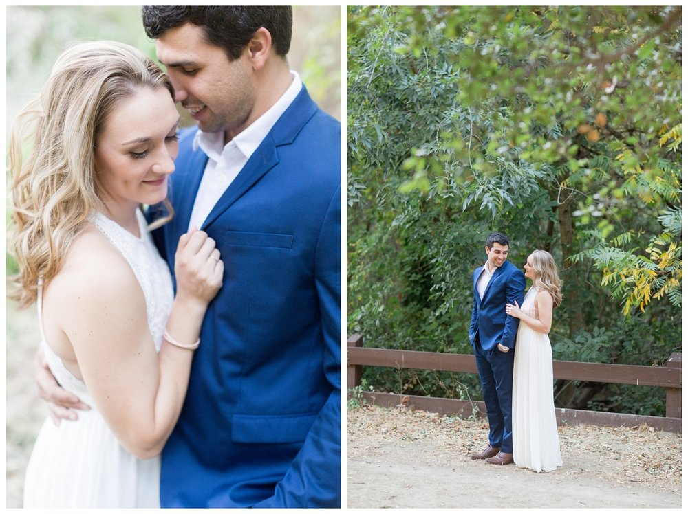 San Francisco couple takes engagement photos in Castro Valley with a destination wedding photographer
