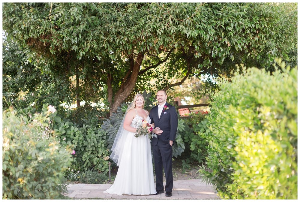 bride and groom portraits around V. Sattui Winery wedding venue in Northern California