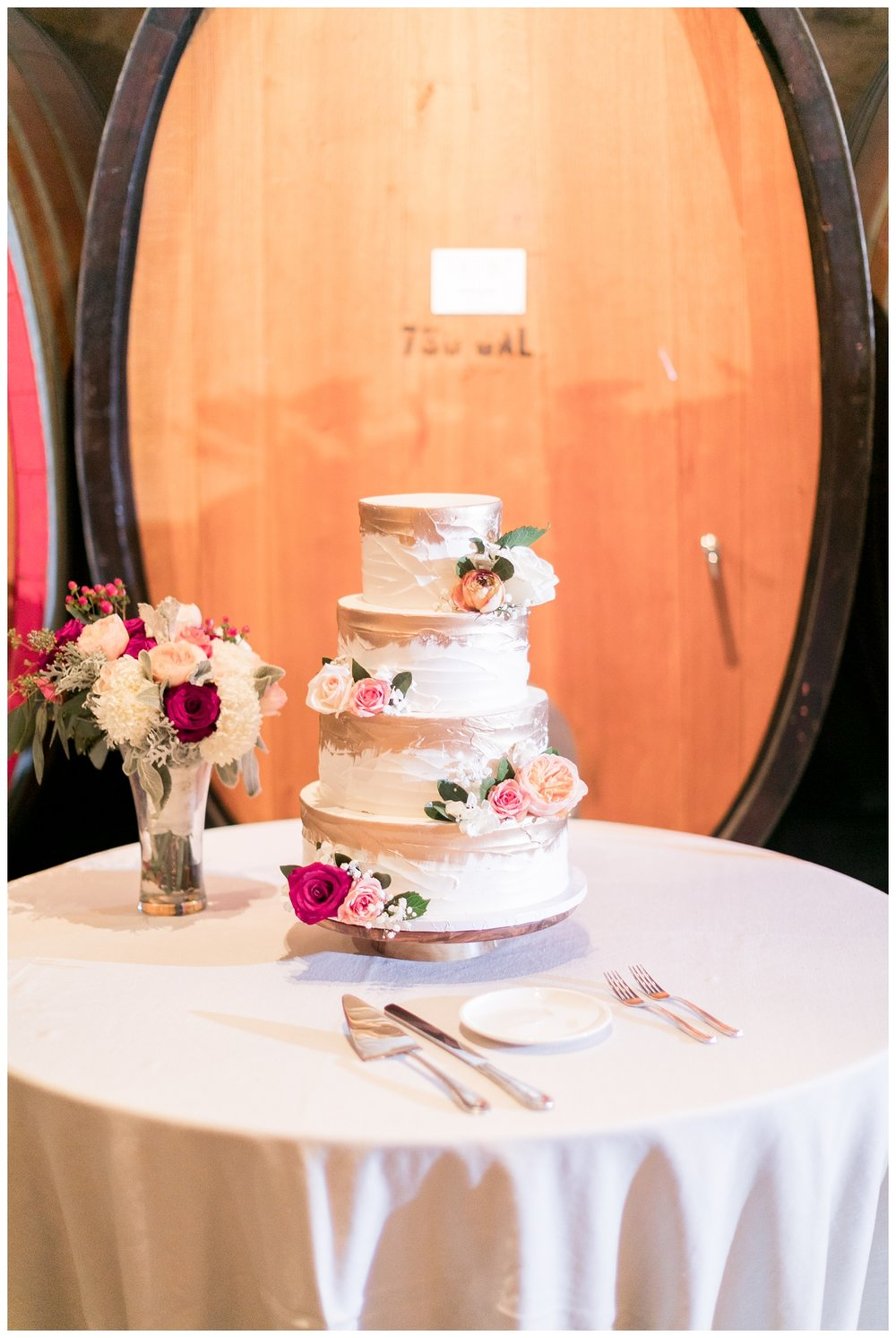 delicous wedding cake taken by a V. Sattui Winery wedding photographer