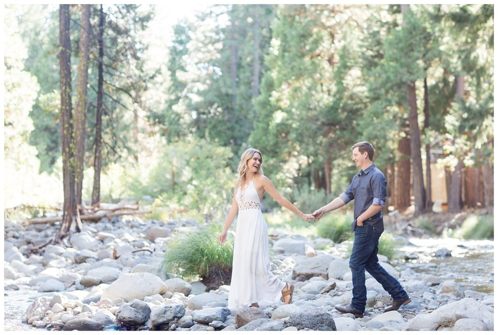 engaged couple has photos taken by a destination wedding photographer from Northern California