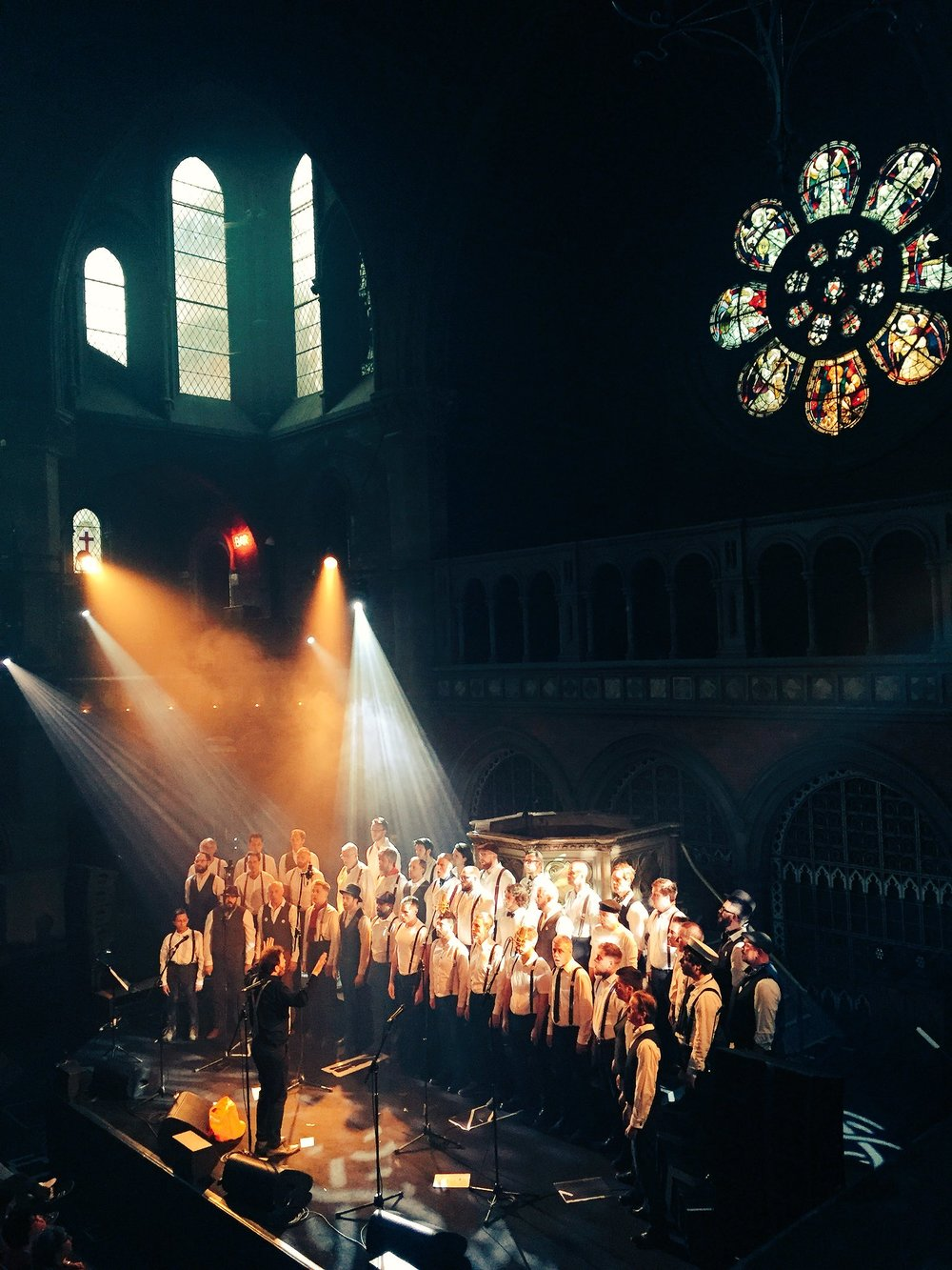 Chaps Choir at The Union Chapel for our 5th Birthday gig | 19th May 2018