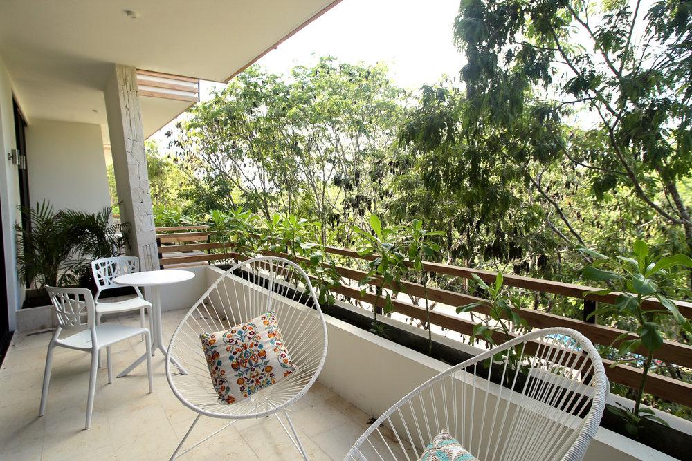 The Highline Tulum Penthouse- Living Room Terrace