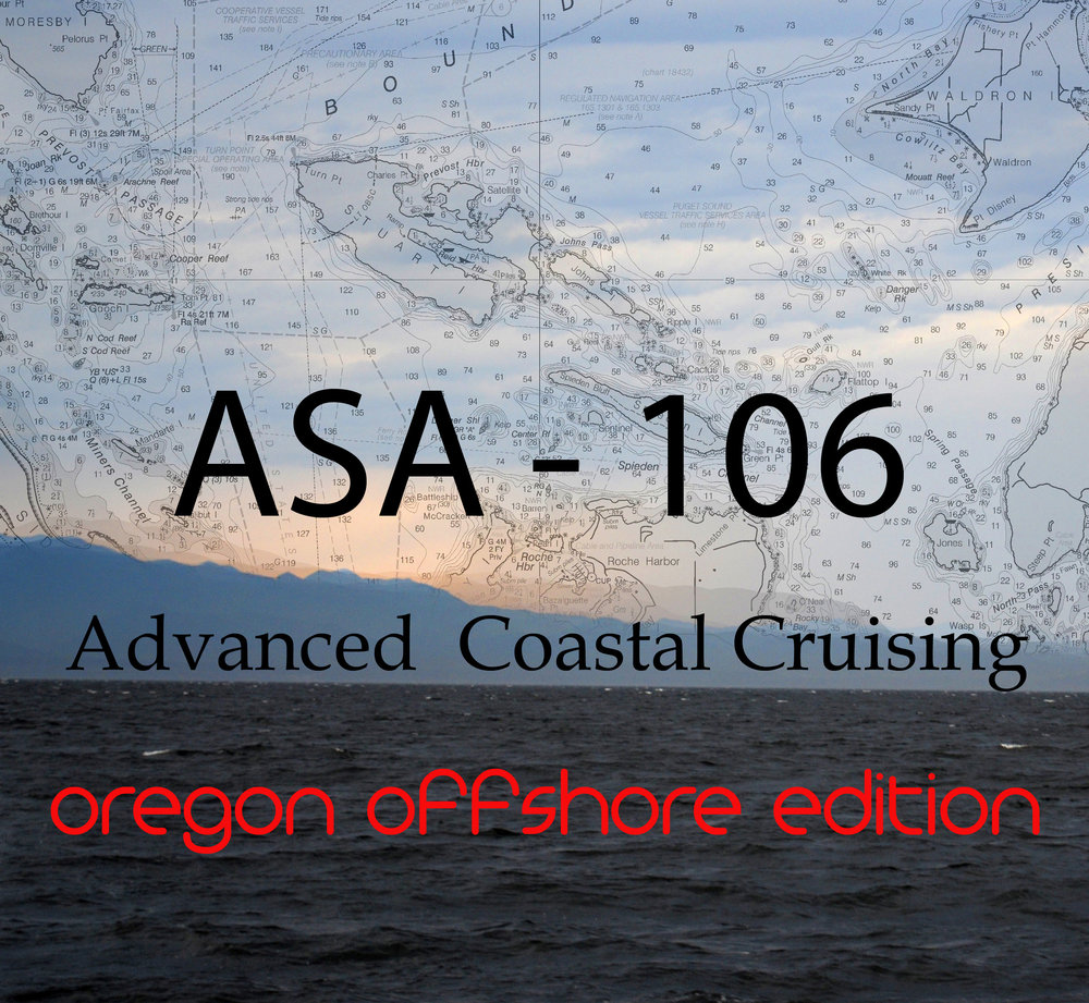 May 10th to 14th - Join us aboard the Cal 40 Journeyman as we compete in the 2018 Oregon Offshore. We will be covering all of the matireal in the American Sailing Assosiation's 106 class while introducing offshore racing.