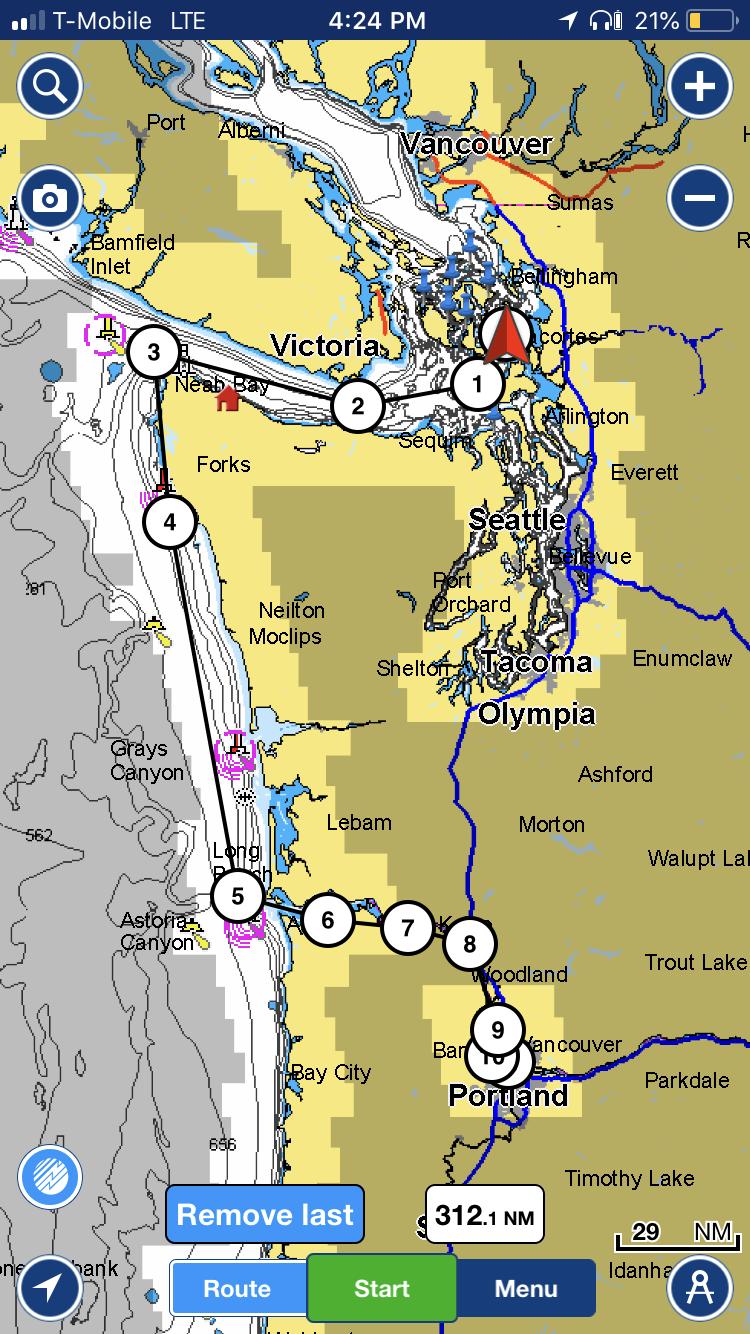 Over 300 nautical miles -