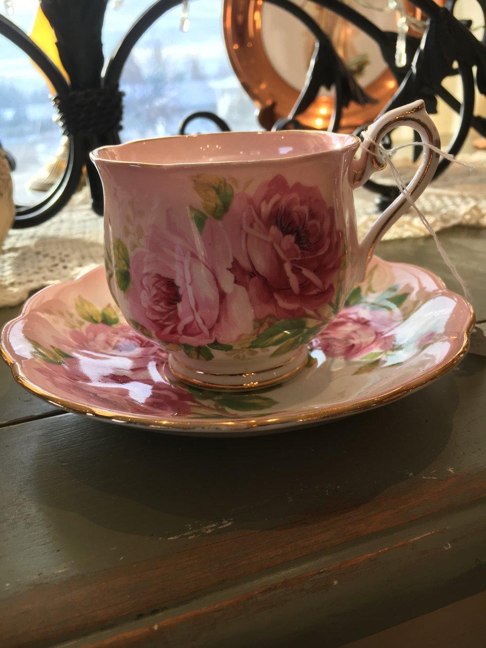 All sorts of beautiful vintage dinnerware