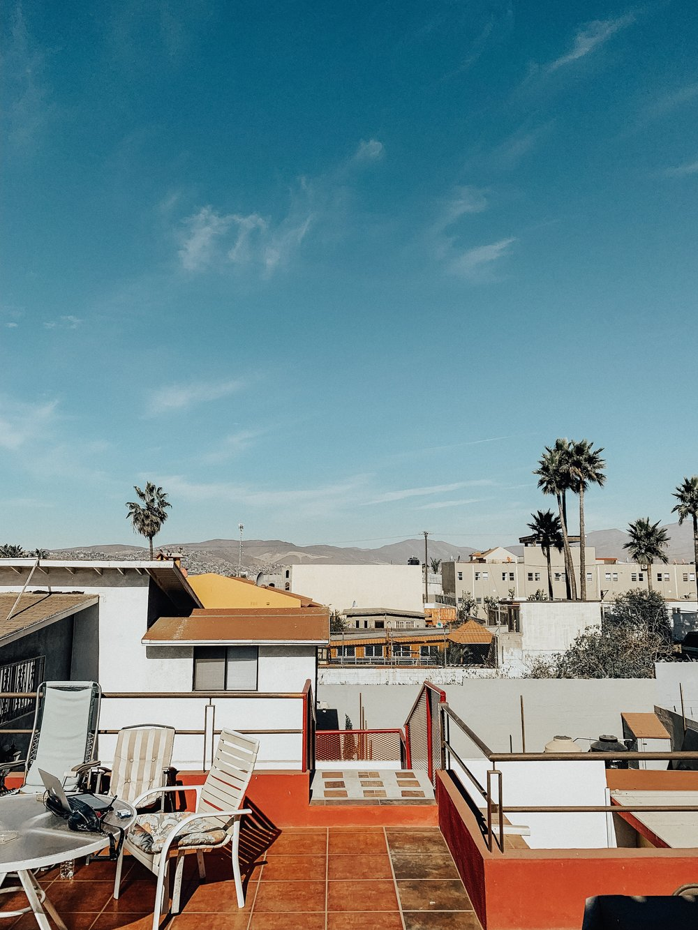 The roof of our Ensenada hostel.
