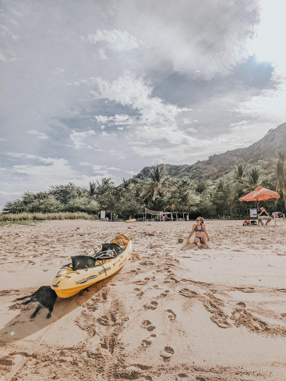 The island we kayaked to in Mazatlan.