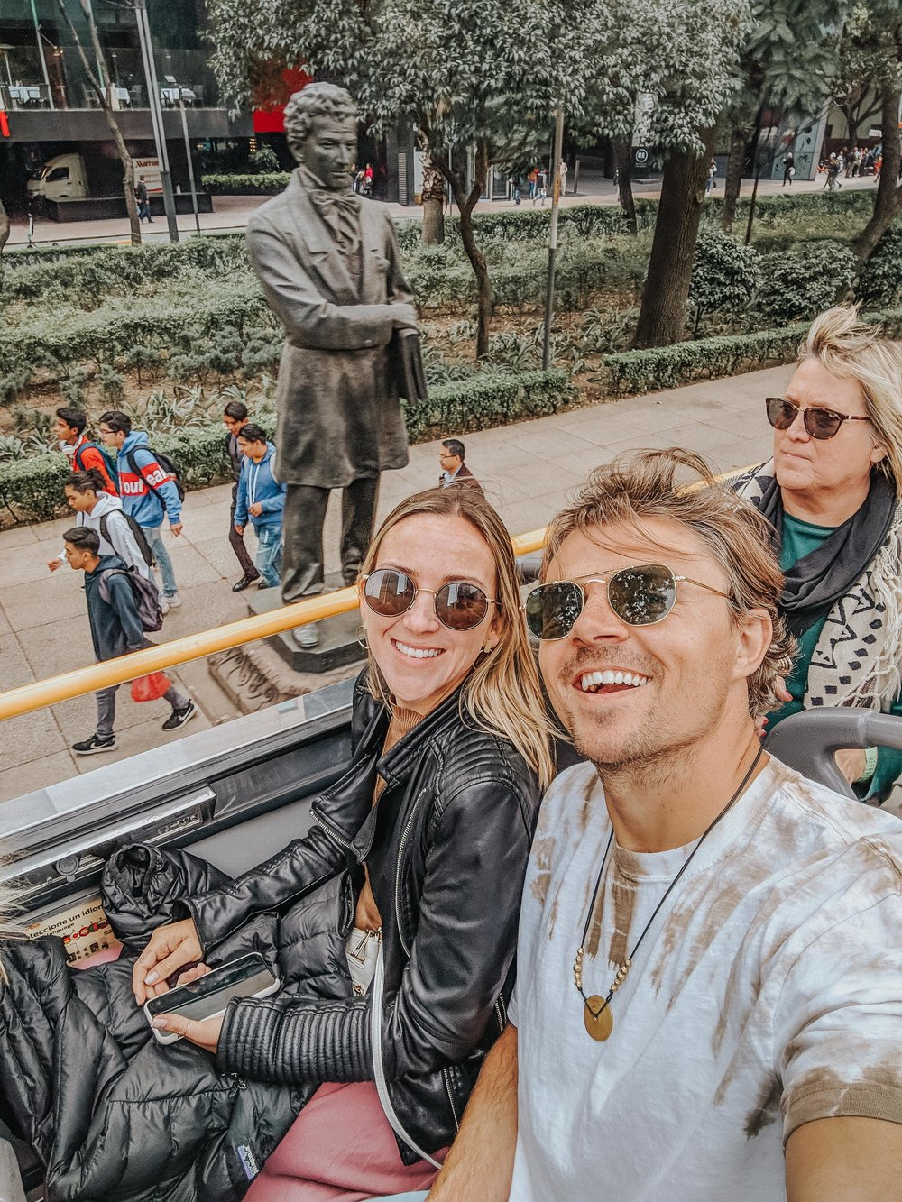 On the CDMX Turibus being total tourists.