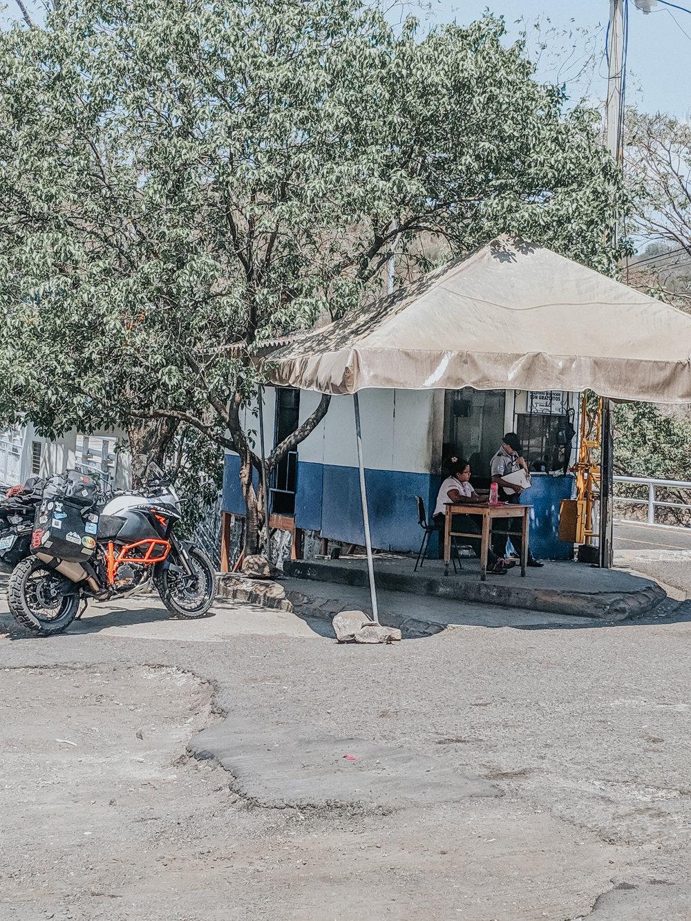 Border Crossing in El Salvador