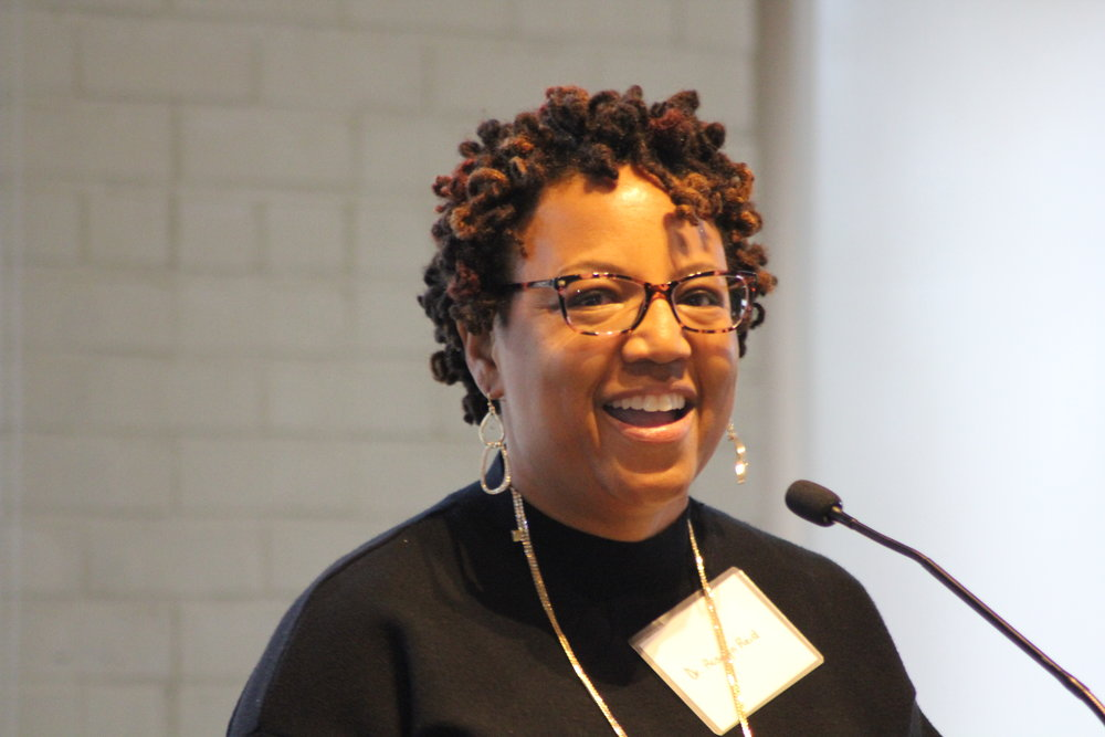 Dr. Rosalyn Reid shares her giving story during a community conversation