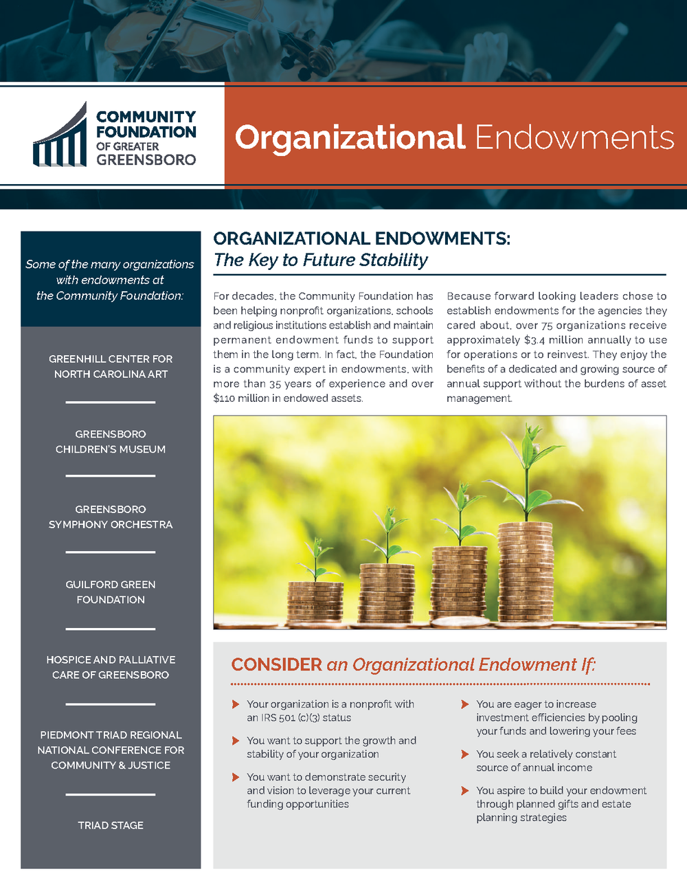 Learn More About Organizational Endowments -
