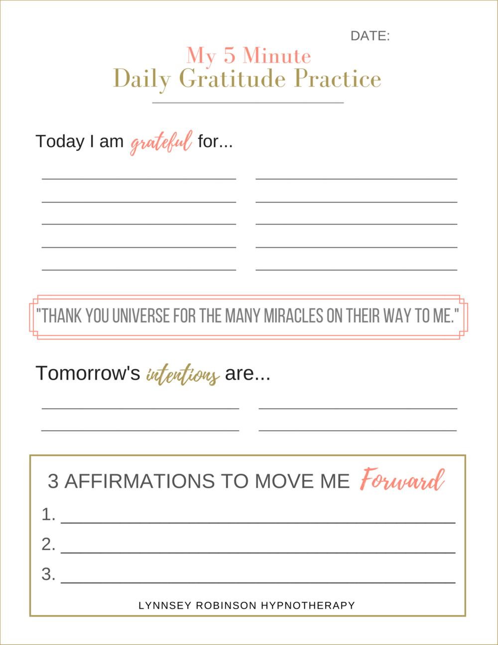 Copy of 5 MINUTE DAILY GRATITUDE PRACTICE