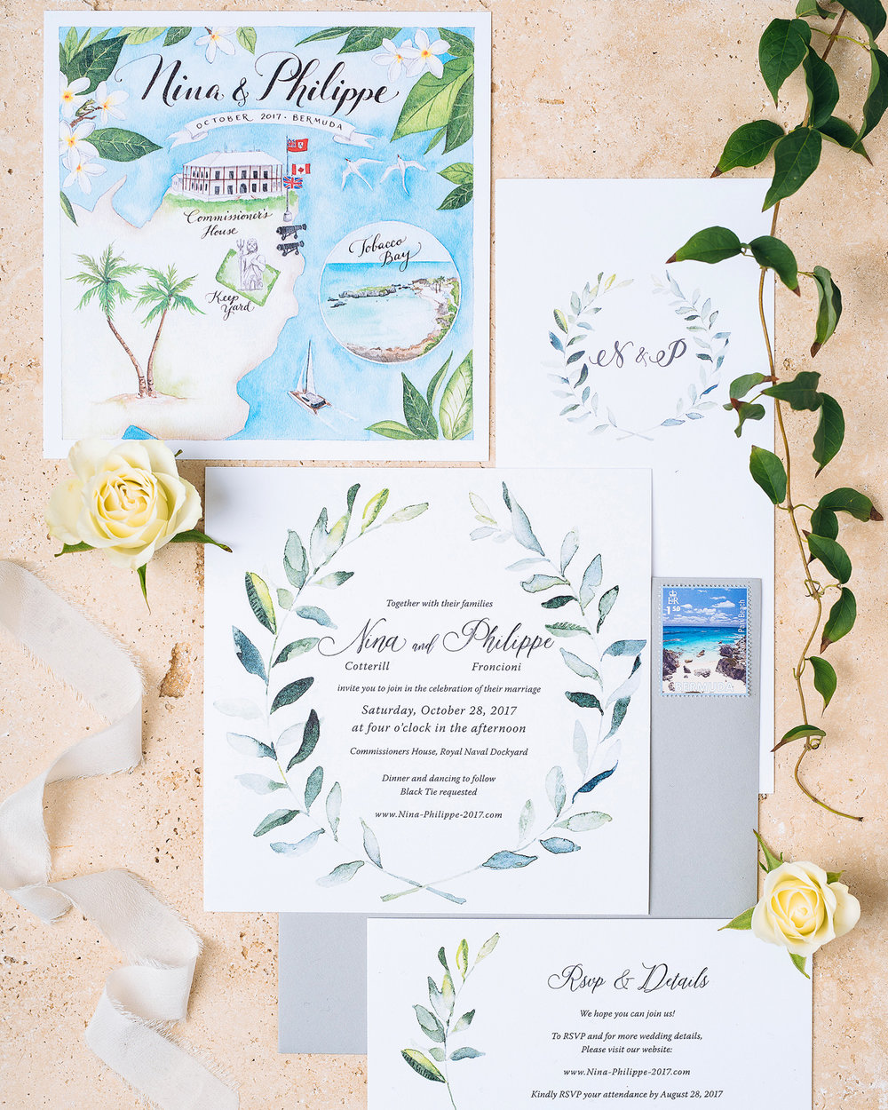 Invitation Suite Flatlay