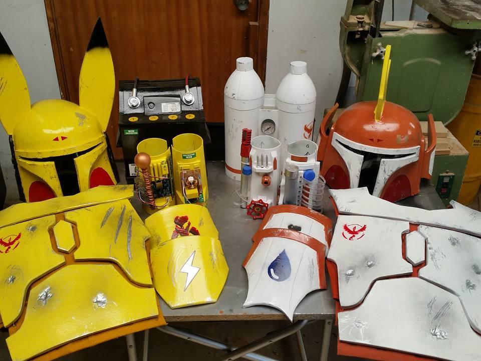 Spargos Cosplays Boba Fett x Pokemon armour